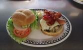 lansing Fleetwood diner Menu picture - Bacon Mushroom burger