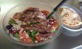 lansing Fleetwood diner Menu picture - Greek Salad Steak