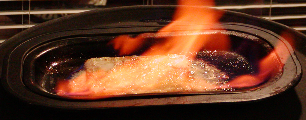 Opa! Try our Saganaki!